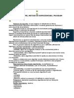 ALGORITMI, METODE DE REPREZENTARE, PROGRAM