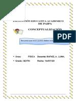 conceptualizacion  6  fisica