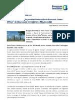 Steria France loue le premier immeuble de bureaux Green Office® de Bouygues Immobilier à Meudon (92)