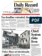 Front -- York Daily Record/Sunday News, Jan. 5, 2011