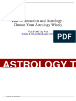 Article - Law of Attraction and Astrology - Choose Your Astrology Wisely