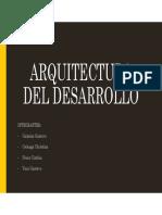 arquitectura del desarrollo
