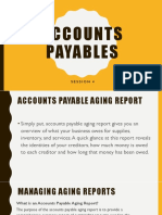 Accounts payables- session 4