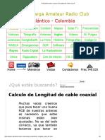 Radioaficionados Calculo de Longitud de cable coaxial