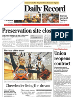 Front - York Daily Record/Sunday News, Jan. 23, 2011