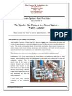 The Number One Problem in a Steam System - Water hammer