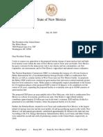 Gov. Lujan Grisham Holtec Letter to President