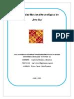 Laboratorio CONEXIÓN DE TRANSFORMADORES MONOFASICOS EN RED MONOFASICA