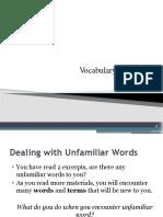 7. Vocabulary Building