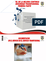 Mejora continua proceso transfusional.