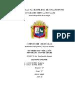 Informe de Evaluación Programa Vaso de Leche