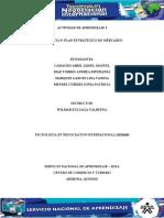 """Evidencia 9 """"Plan estrategico del Mercadeo"""""""