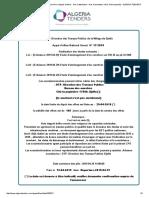 Le leader des appels d'offres en Algérie (Avis d'appels d'offres - Avis d'attribution - Avis d'annulation –Avis d'infructuosité)   _ ALGERIA TENDERS
