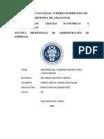 INFORME DEL COMPORTAMIENTO DEL CONSUMIDOR