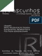 Arte na educação basica_conquistas desmontes e politicas educacionais_Revista Rascunhos_GEAC_ARTE_EDUFU