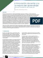 Elementos de innovación docente y su impacto en la mejora del aprendizaje