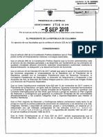 Decreto 1714 Del 05 de Septiembre de 2018 - Funciones de la Vicepresidente