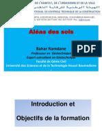 ALEA GEOTECHNIQUE - INTRODUCTION ET OBJETIFS DE LA FORMATION