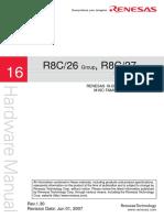 MCU - R8C27 - RENESAS R8C26 R8C27 - HW MANUAL - 16-BIT SINGLE-CHIP MCU - M16C FAMILY R8C Tiny SERIES.pdf