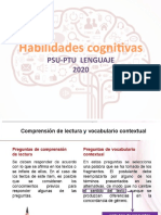 HABILIDADES COGNITIVAS PSU-L