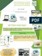 Método Rancimat y caracterización lipídica