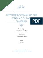 ACTIVIDAD DE COMANDAS POR CONSUMO DE CADA COMENSAL