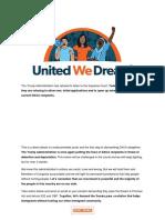 Uwd - Update on Daca
