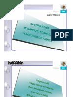 Recopilación de rangos y factores de ajuste INDAABIN