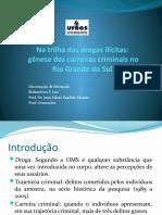 Apresentação da dissertação - Na trilha das drogas ilícitas