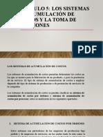 CAPITULO 5 Sistema de acumulacion de costos