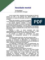 Obesidade mental - João César das Neves - saúde - metabolismo - prevenção