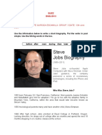 Quizz writing Steve Jobs