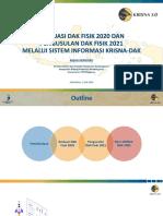 BAPPENAS-Evaluasi DAF Fisik 2020 & Pengusulan DAK Fisik 2021 Melalui Sistem Informasi Krisna-DAK