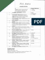 Six Sigma Course Outline