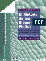 El Método de Los Elementos Finitos Vol. 1 - Zienkiewicz & Taylor - 4ta Edición