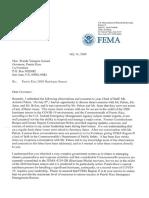 Carta de FEMA a gobernadora