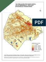 Censo 2001 Densidad de Poblacion Po Radio Censal y Villas