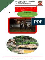 Plan de Patrullaje Municipal Serenazgo Lares