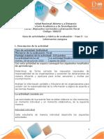 Guia de actividades y Rúbrica de evaluación - Fase 5 - La información exógena