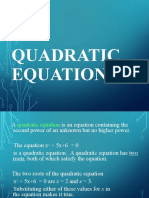 B1 H. QUADRATIC EQUATION, SYSTEMS OF LINEAR EQUATION