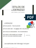 2. ESTILOS DE LIDERAZGO
