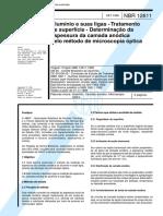 Nbr 12611 - Aluminio E Suas Ligas - Tratamento De Superficie - Determinacao Da Espessura Da Camad.pdf