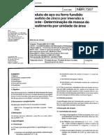 NBR 7397 - Produto de aco ou ferro fundido revestido de zinco por imersao a quente - Determinacao.pdf