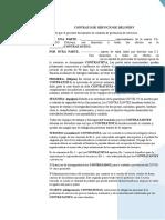 CONTRATO DE SERVICIO PARA EL DELIVERY