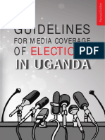 Guidelines on Media Coverage of Elections in Uganda - Revised 2020