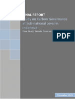 carbon governance sub-national level indonesia