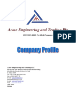 Acme Engineering and Trading Plc Company Profile