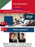 Gene Manipulation Week 7