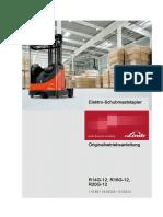 Linde R14 R16 R20G Operator Manual