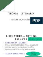 Slides sobre Teoria Literária
